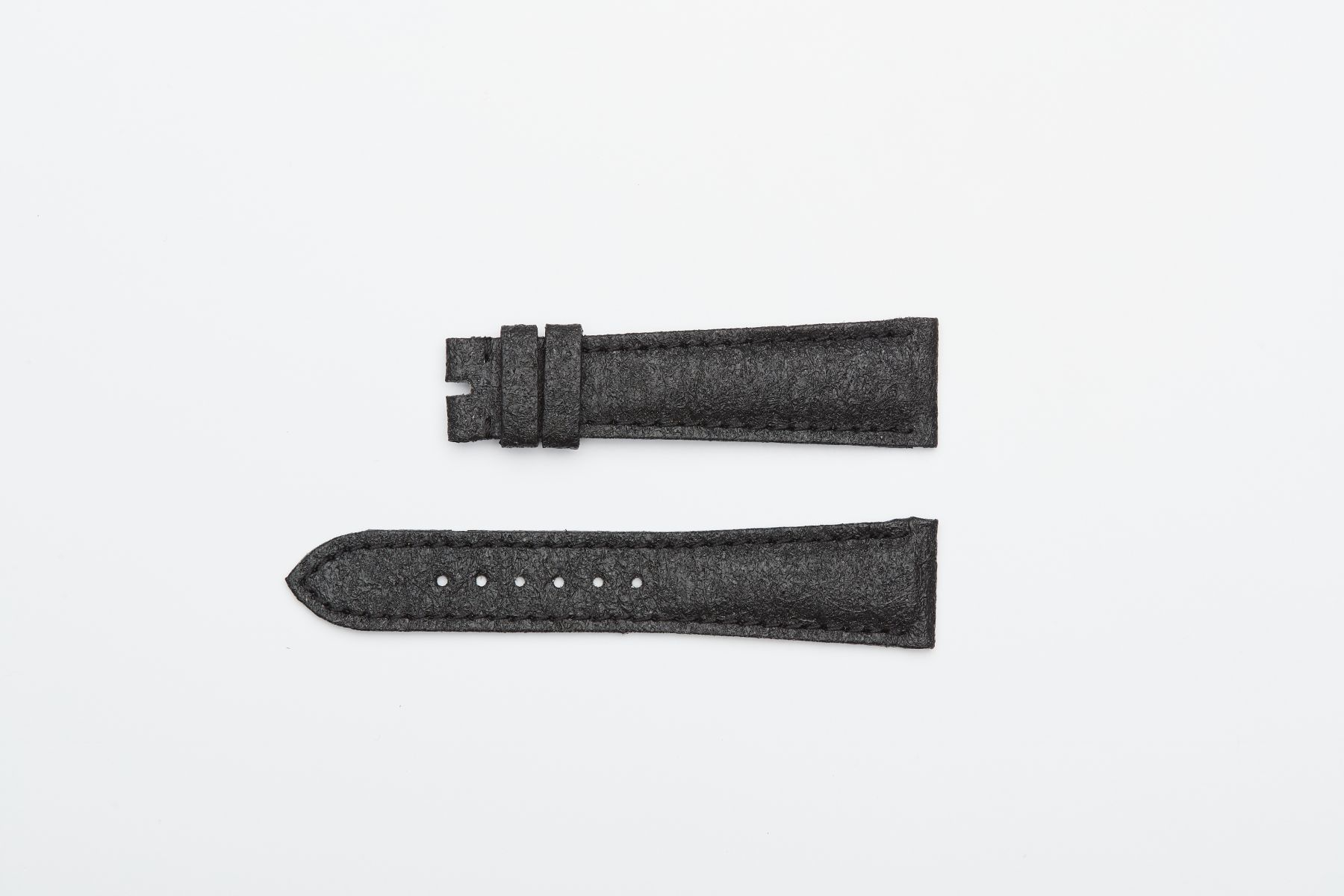 Onyx Black Pinatex Replacement Strap for different style timepieces. Vegan