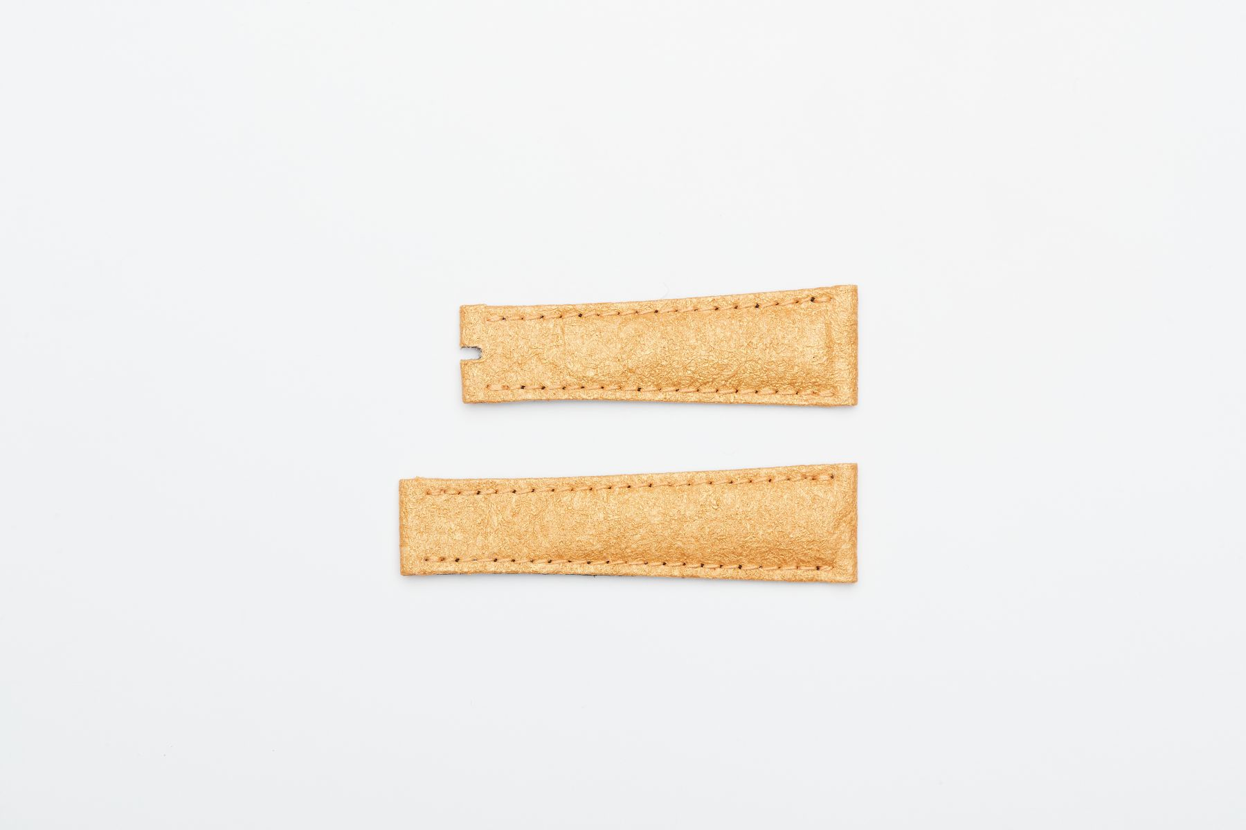 Yellow Gold Pinatex Replacement Strap 20mm for Rolex Daytona style timepieces. Vegan