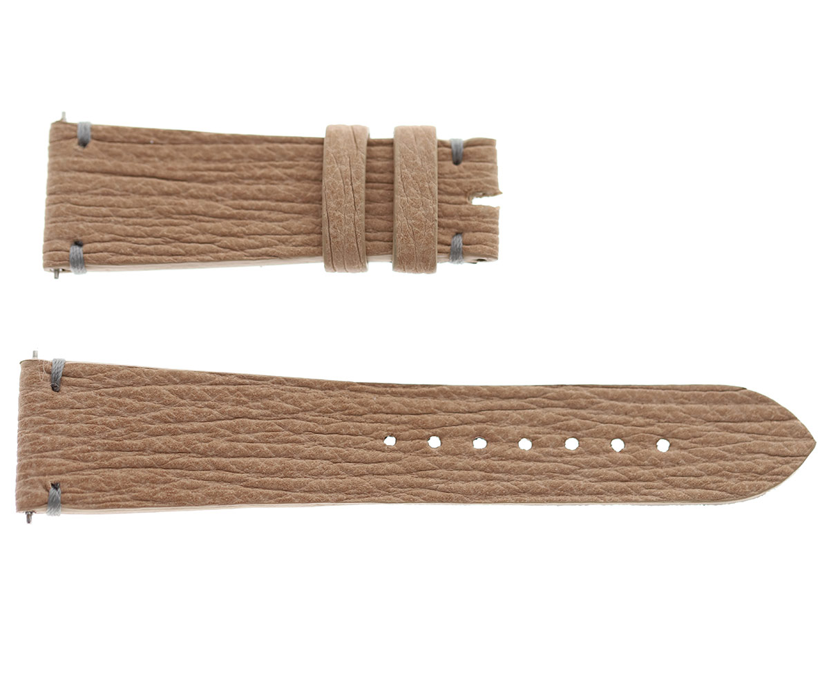 Peach Beige Shark leather strap 20mm Lady General style