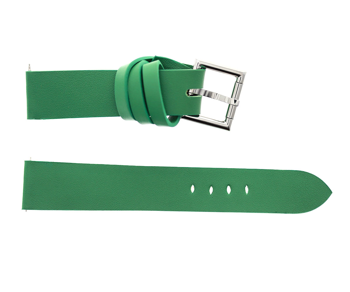 Racer watch band in Green Calf