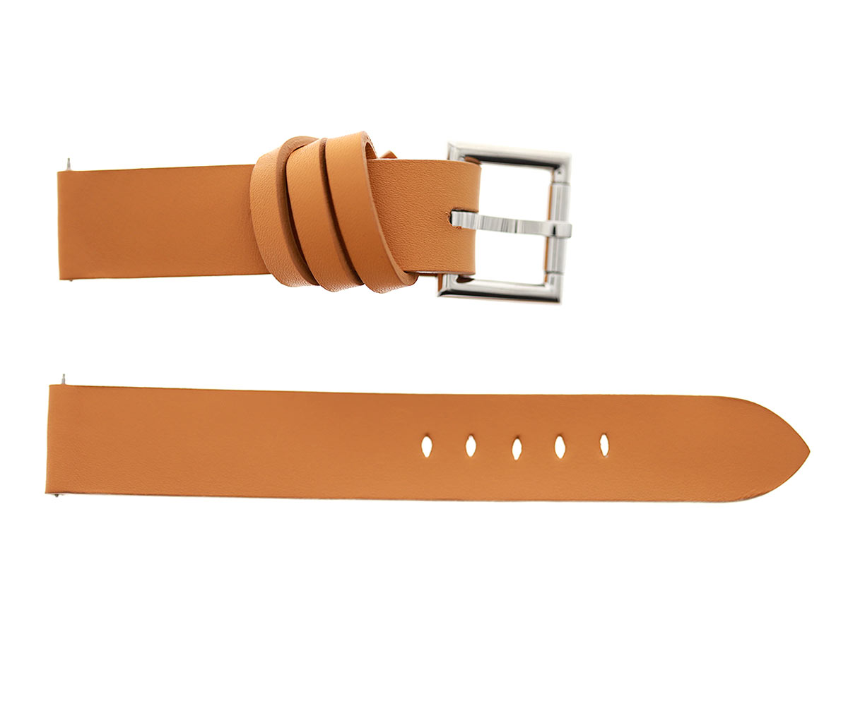 Racer watch band 20mm in Beige Scotchgard Calf Leather