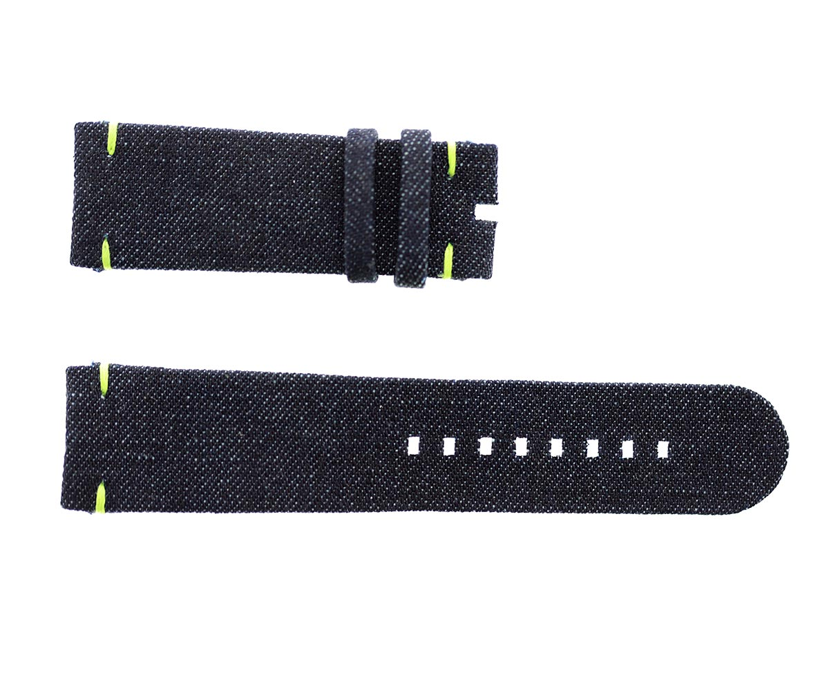 Ressence Type 5 style strap 24mm in Japanese Denim. Vegan style