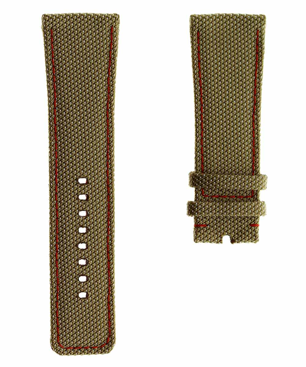 SEVENFRIDAY style Beige Cordura® watch strap 28mm