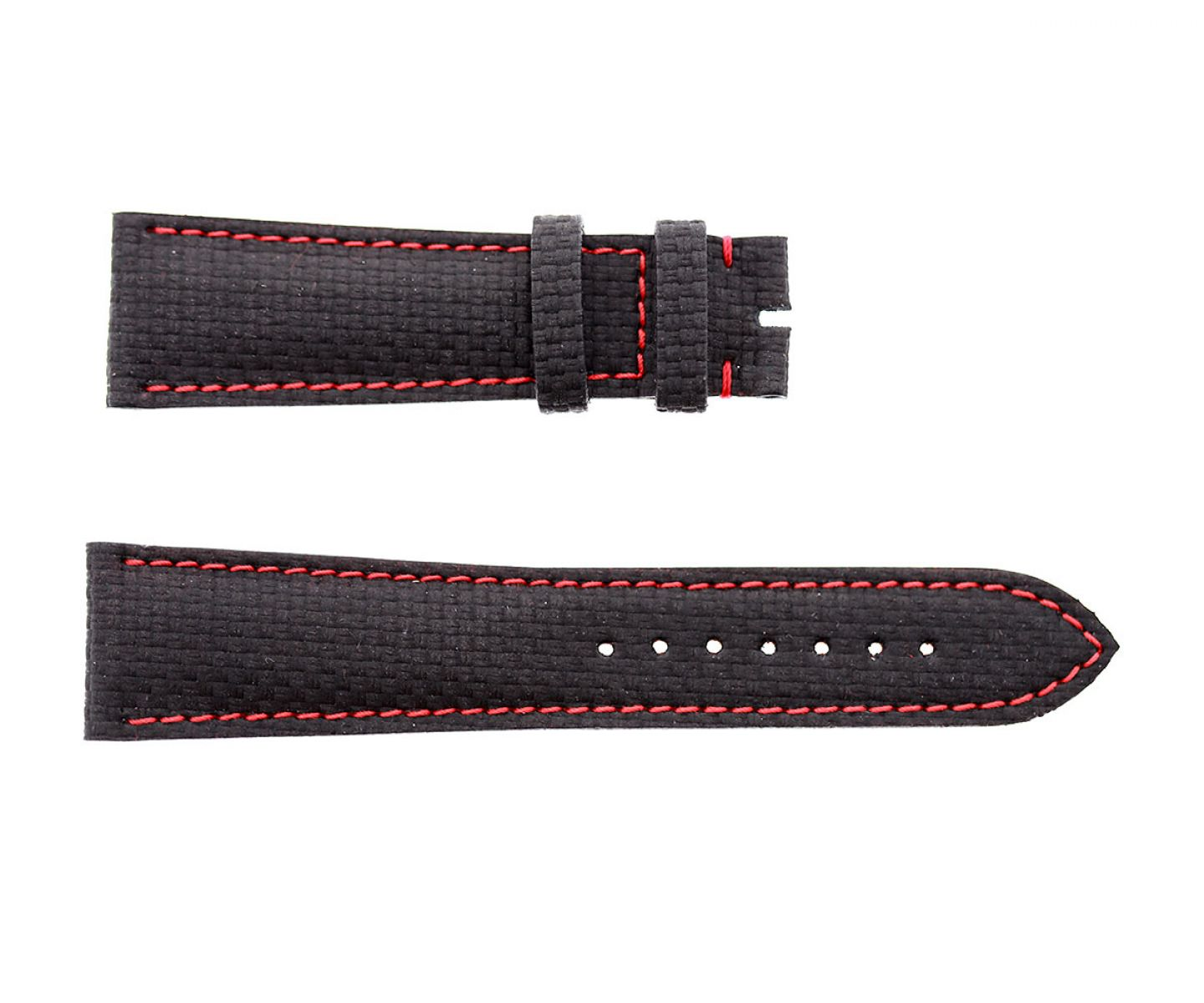 Carbon fiber printed black leather strap 22mm Tag Heuer Carrera style