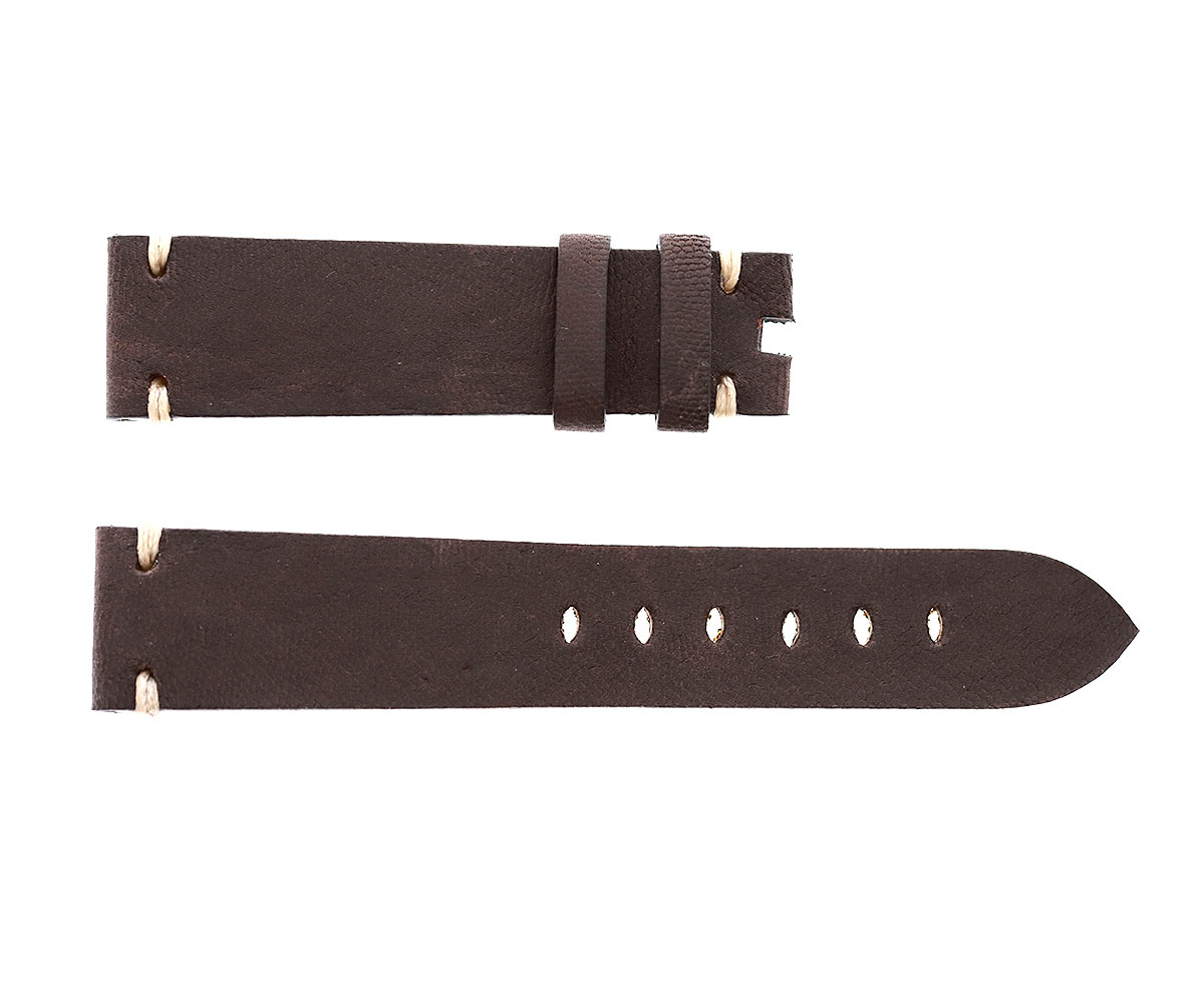 Chocolate Brown Kangaroo leather strap 20mm Tudor Black Bay style