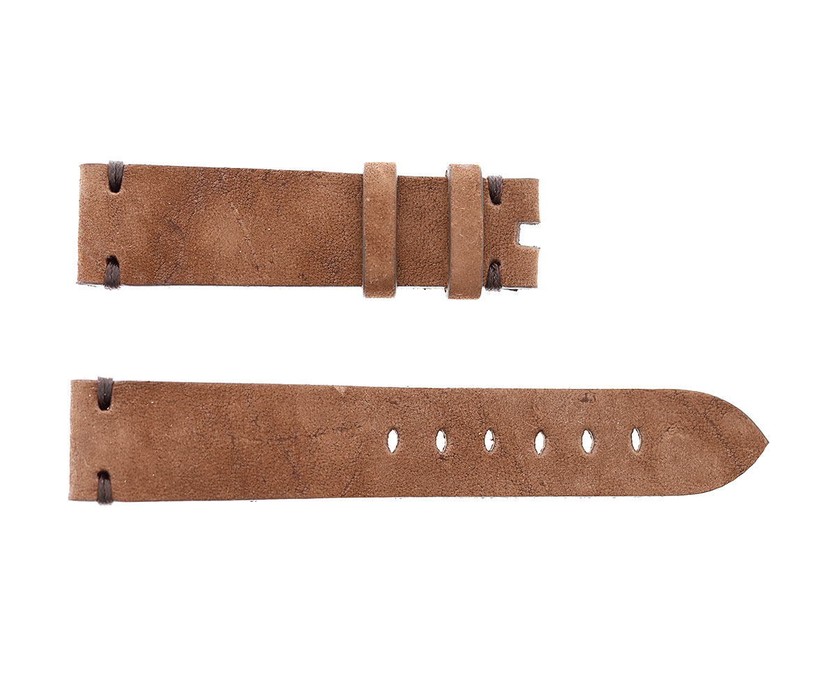 Cigar Brown Kudu Reverse Antelope leather strap 20mm Tudor Black Bay style