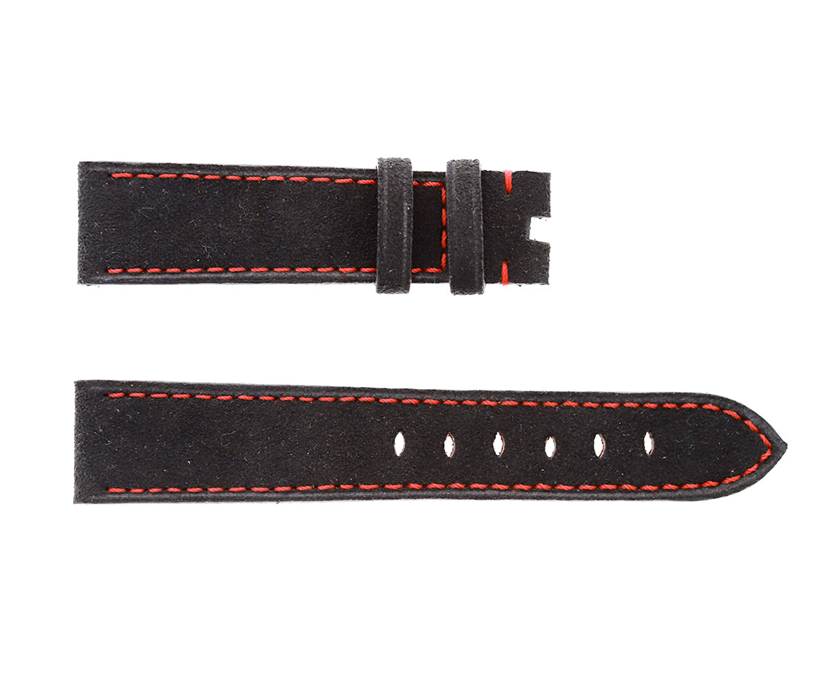 Black Alcantara® strap 20mm Tudor Black Bay style. Vegan