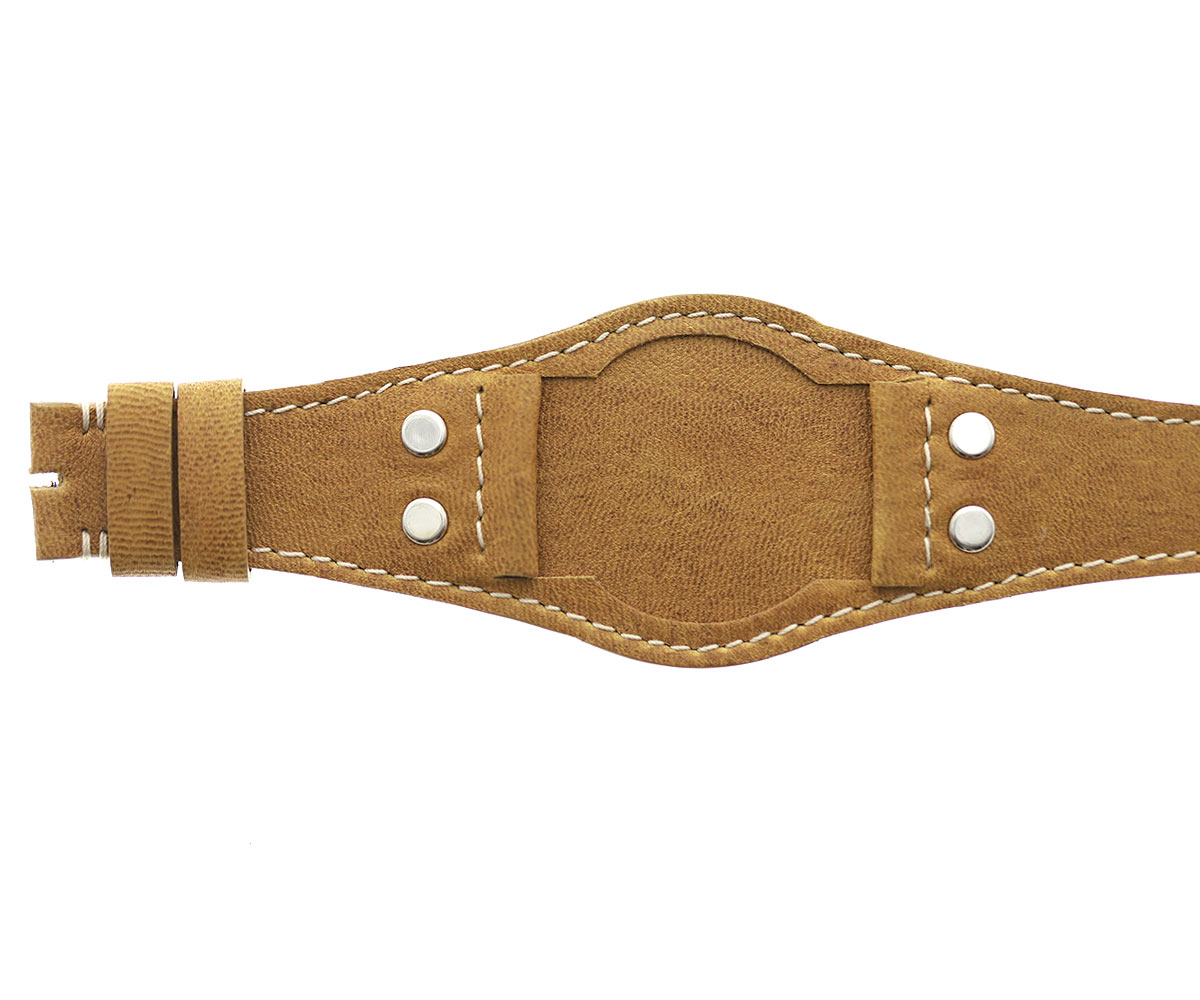 Tudor Ranger Special style Bund watch strap 22mm lugs in Kangaroo leather