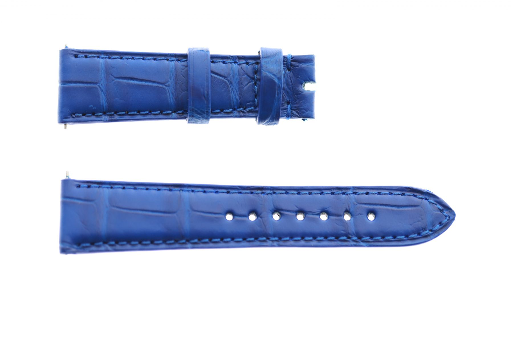 Blue Lapis Alligator leather custom strap 19mm Ulysse Nardin Dual Time Lady style