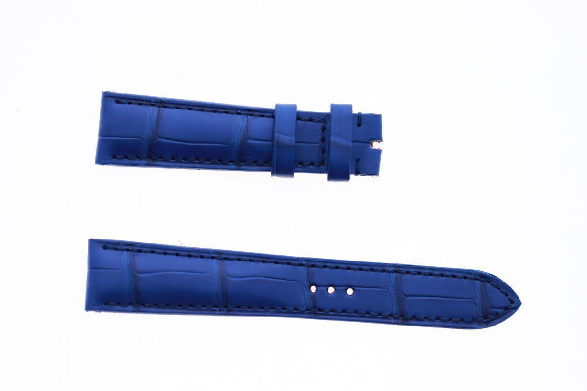 Blue Lapis Alligator leather custom strap 19mm Ulysse Nardin Michelangelo style