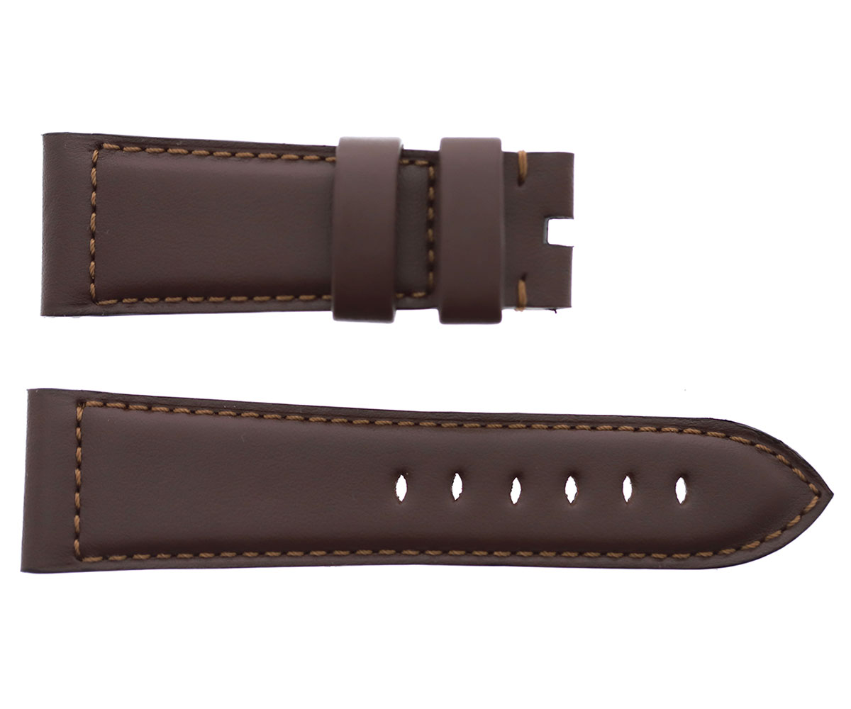Panerai style 24mm, 26mm strap in Chocolate Brown Calf leather