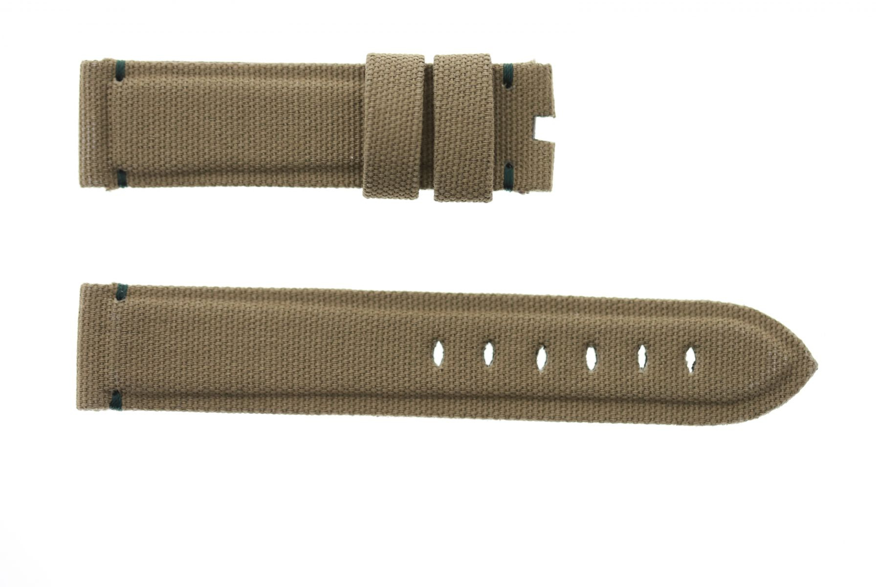 Military Green Canvas strap 20mm for Panerai. Vegan style