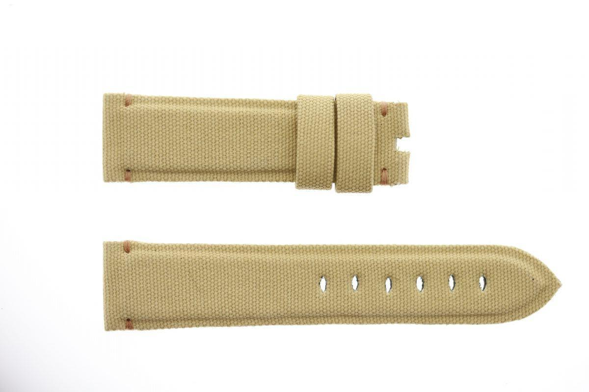 White Cream Canvas strap 20mm for Panerai. Vegan style