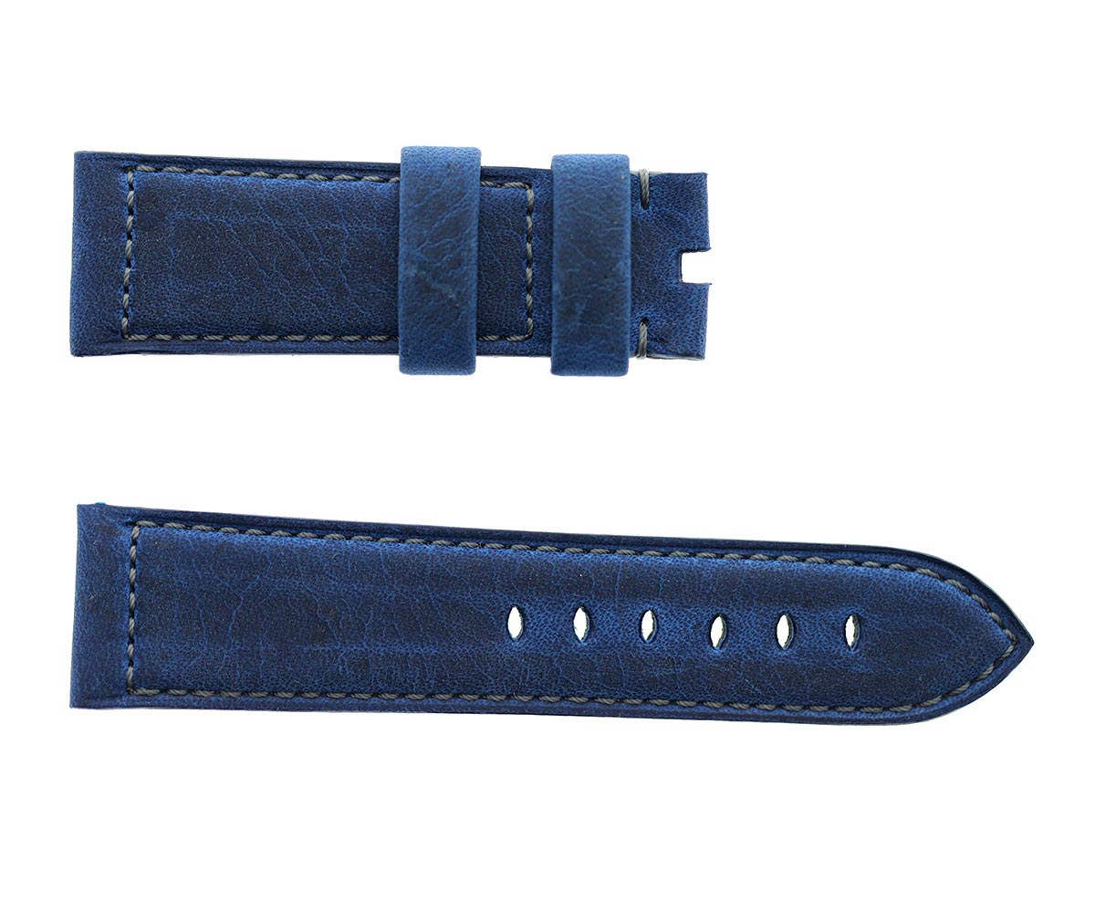 Ocean Blue Antilope Kudu Leather strap 24mm for Panerai