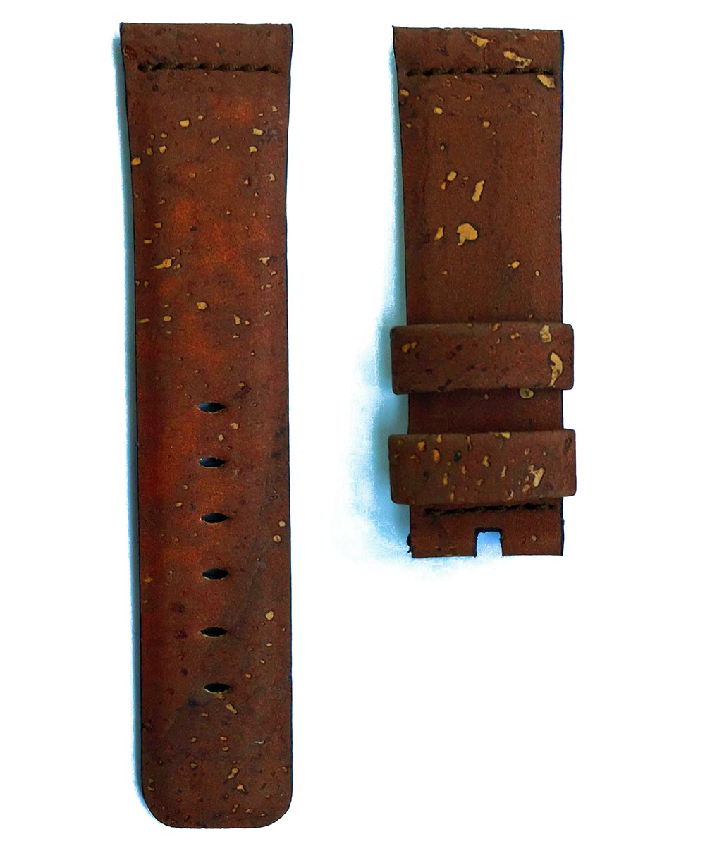 Natural Cork strap 24mm for Panerai. Vegan style