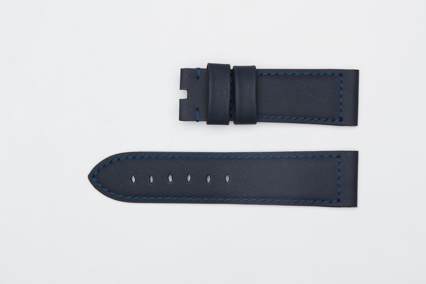 Navy Blue Recycled Rubber strap 24mm for Panerai style timepieces