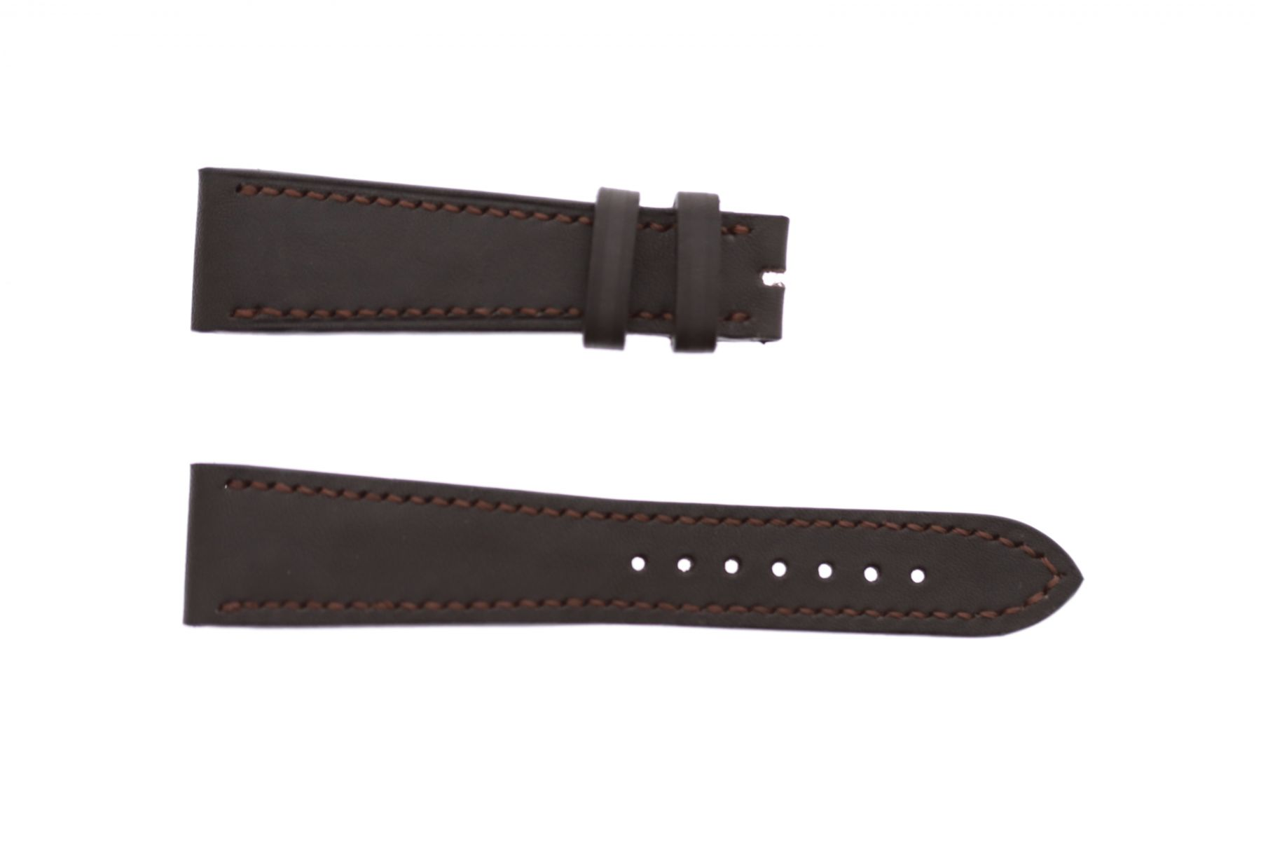 Chocolate Brown in Barenia / Luxury Hermes French calf leather strap 21mm Patek Philippe Calatrava style