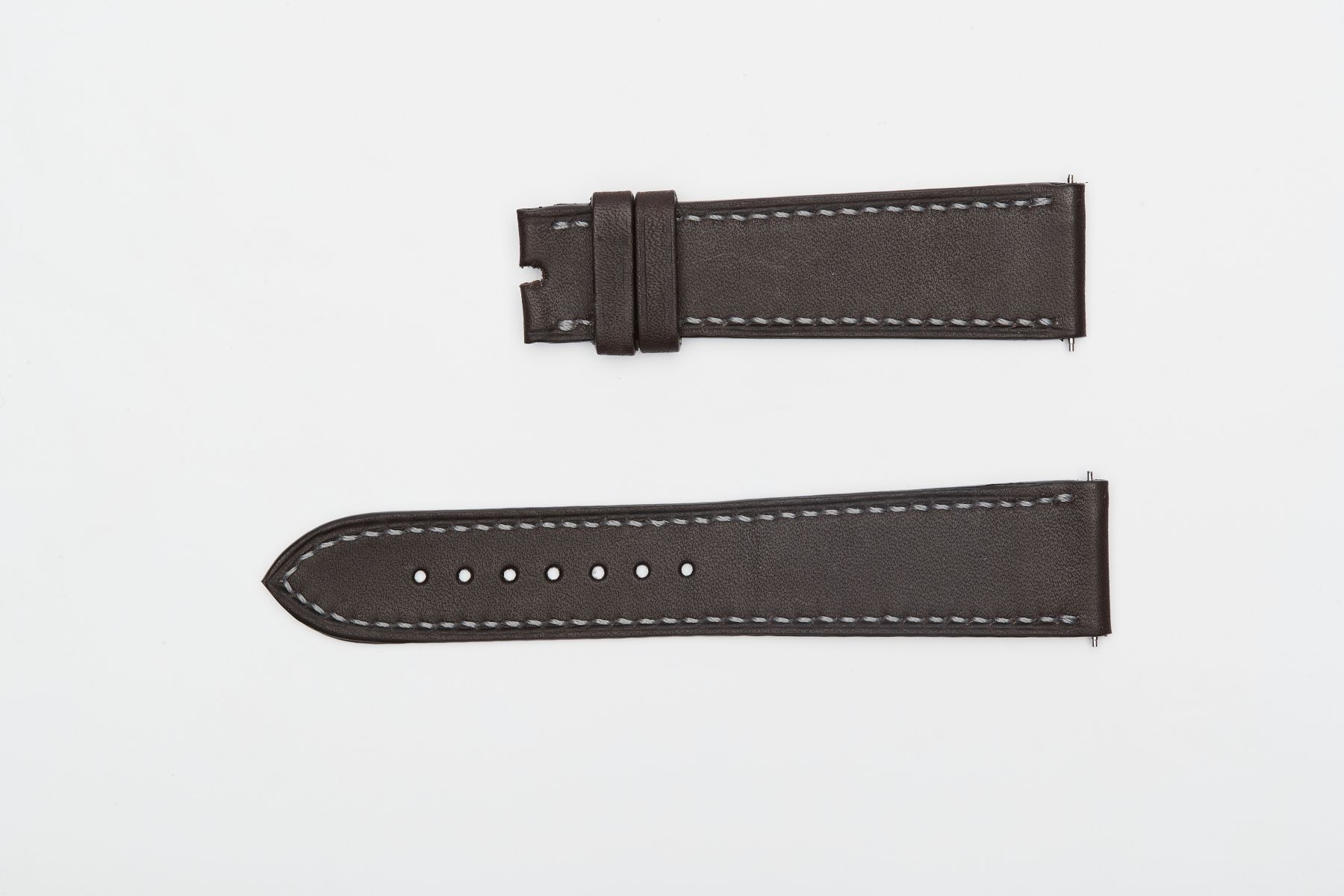 Dark Brown in Barenia / Luxury Hermes French calf leather strap 21mm Patek Philippe Calatrava style