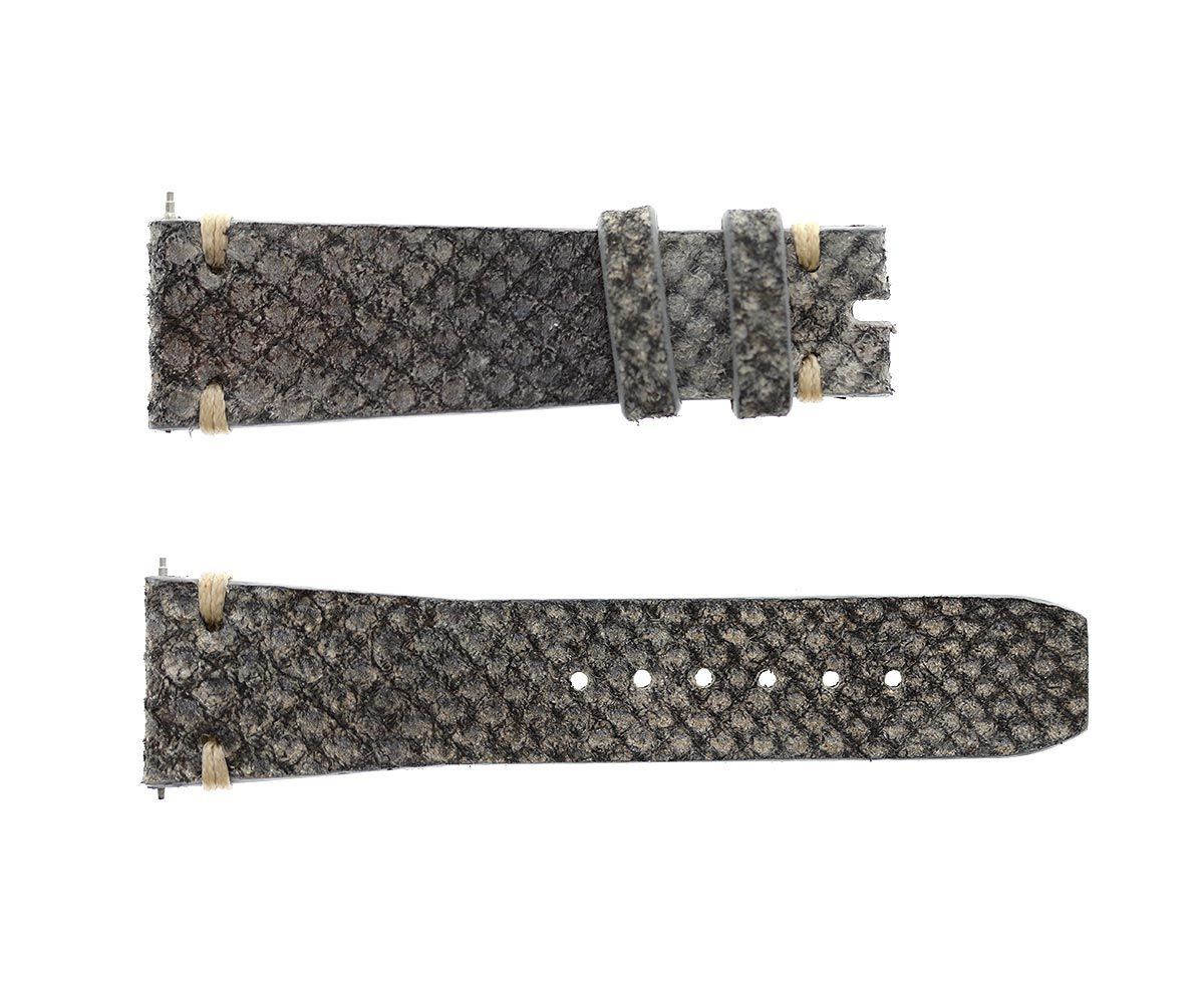 Grey Exotic Karung Reverse Snake leather strap 20mm Rolex Oyster style