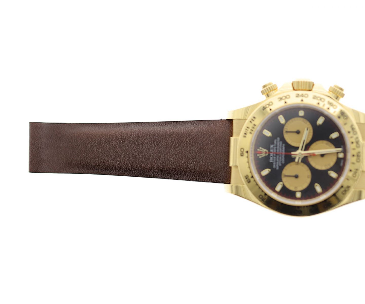 Brown strap 20mm for Rolex Daytona in Barenia / Luxury Hermes French calf leather