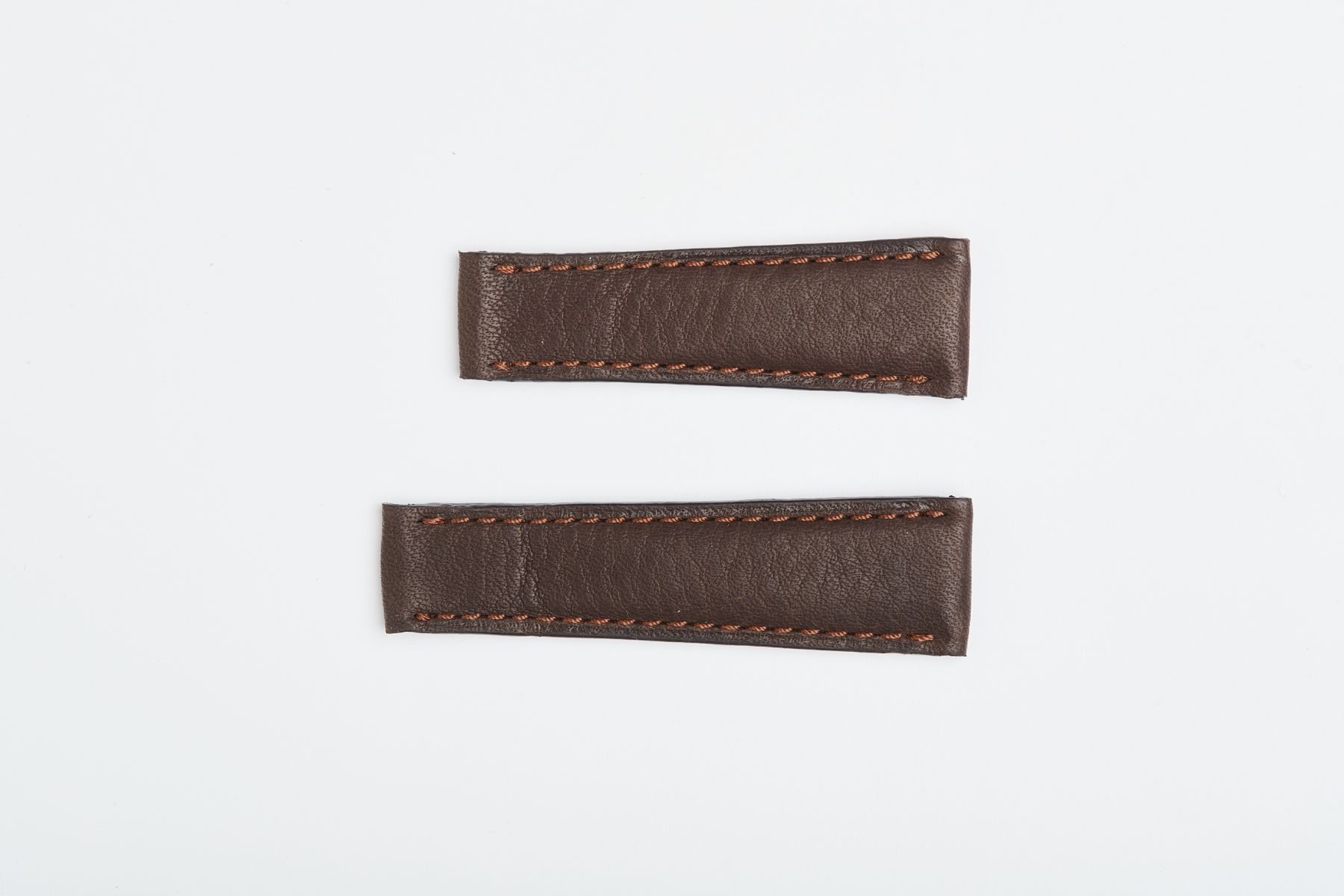 Brown Hydro-Repellent Calf Leather Strap 20mm / Rolex Daytona style