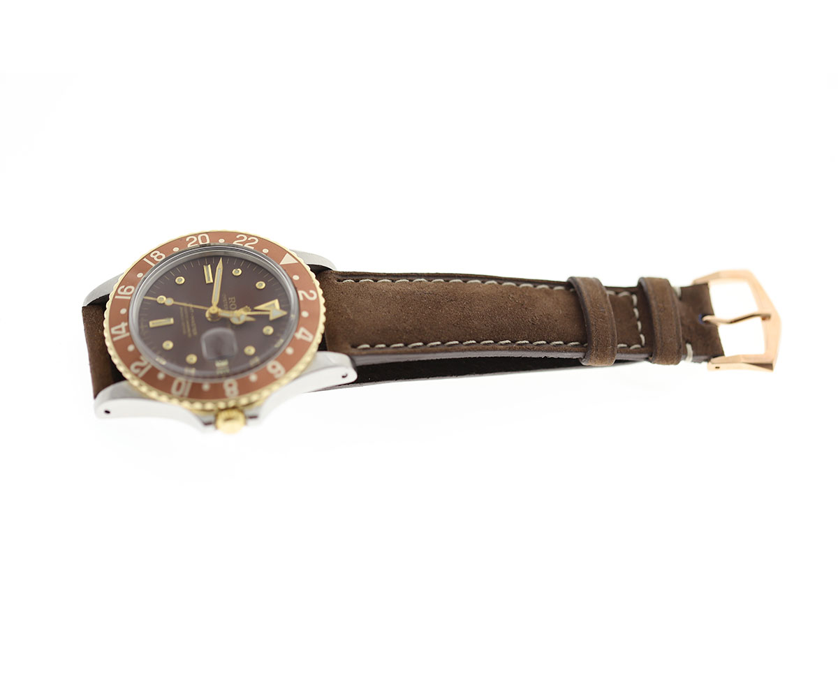 Kudu Reverse (Antelope) Brown leather strap 20mm Rolex Oyster Perpetual / GMT style