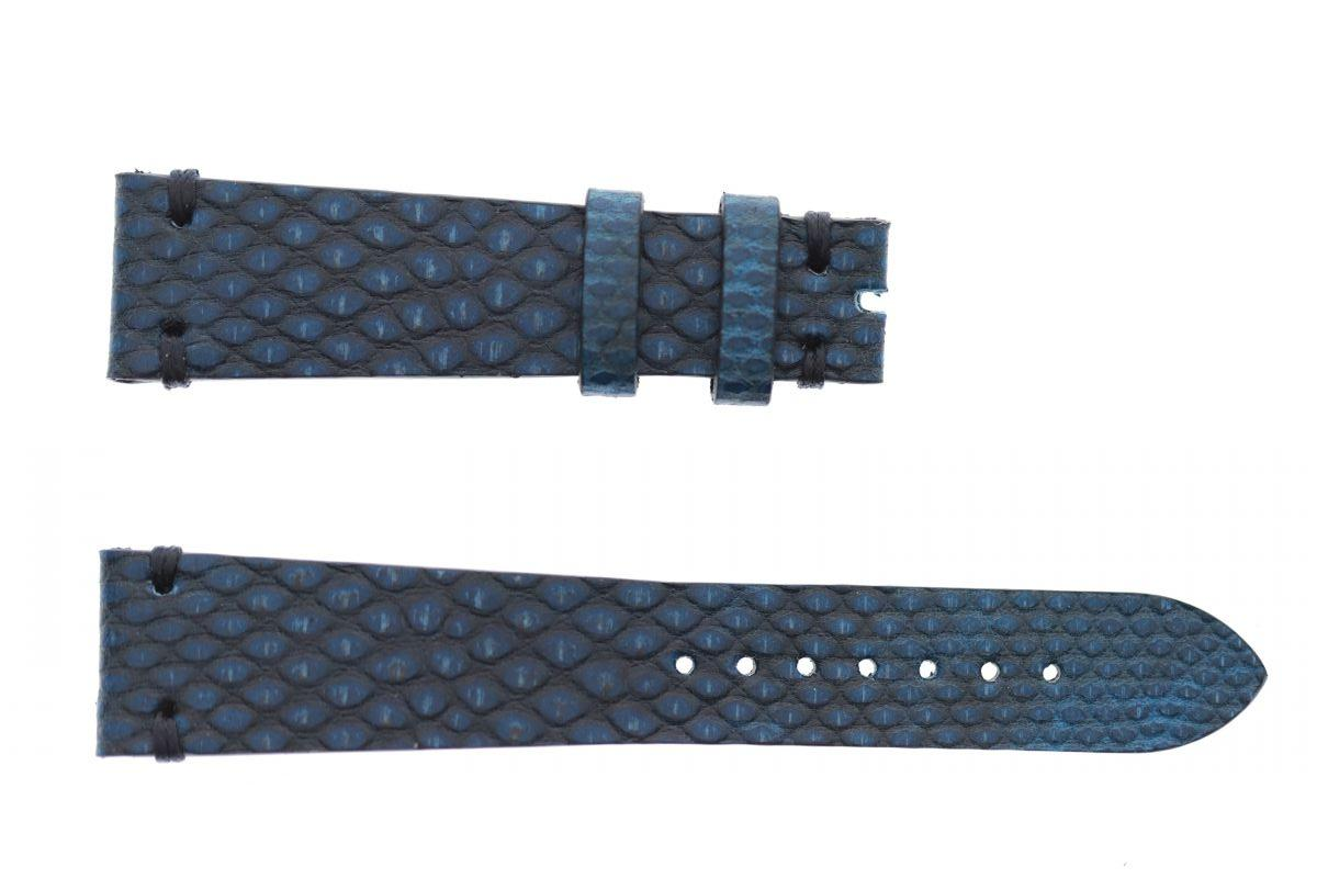 Pearl Blue Exotic Karung Reverse Snake leather strap 20mm Rolex Oyster style