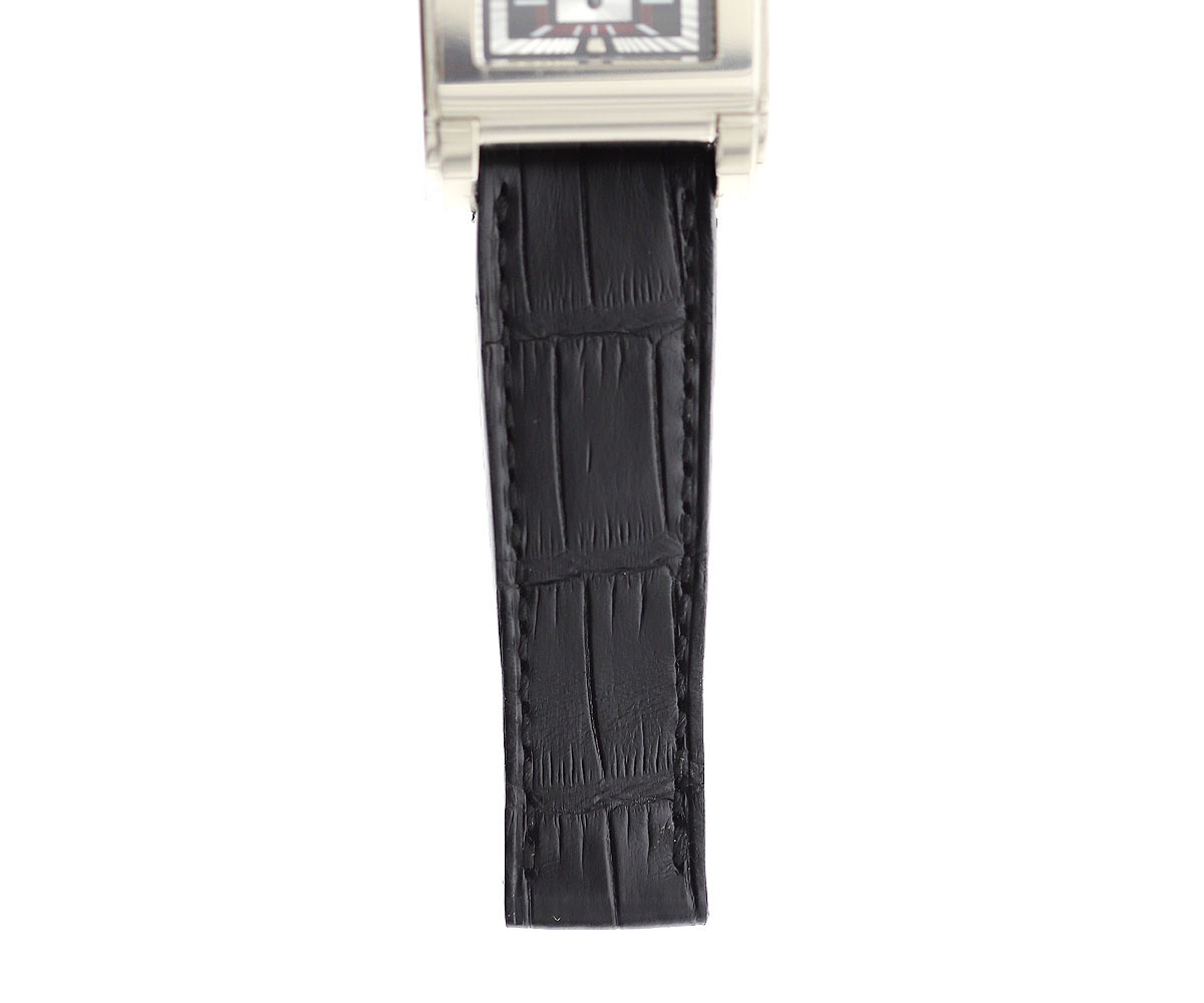 Rolex Cellini Prince style strap 20mm in Charcoal Black Alligator