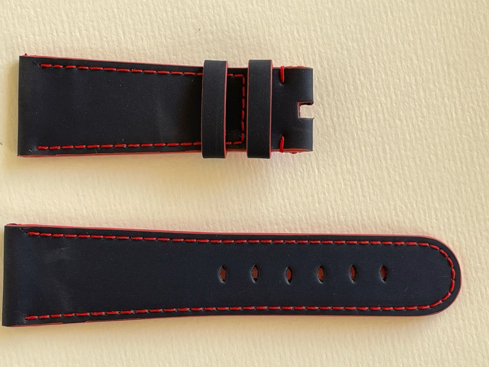 Navy Blue Recycled Rubber Strap 16mm, 18mm, 19mm, 20mm, 21mm, 22mm General style