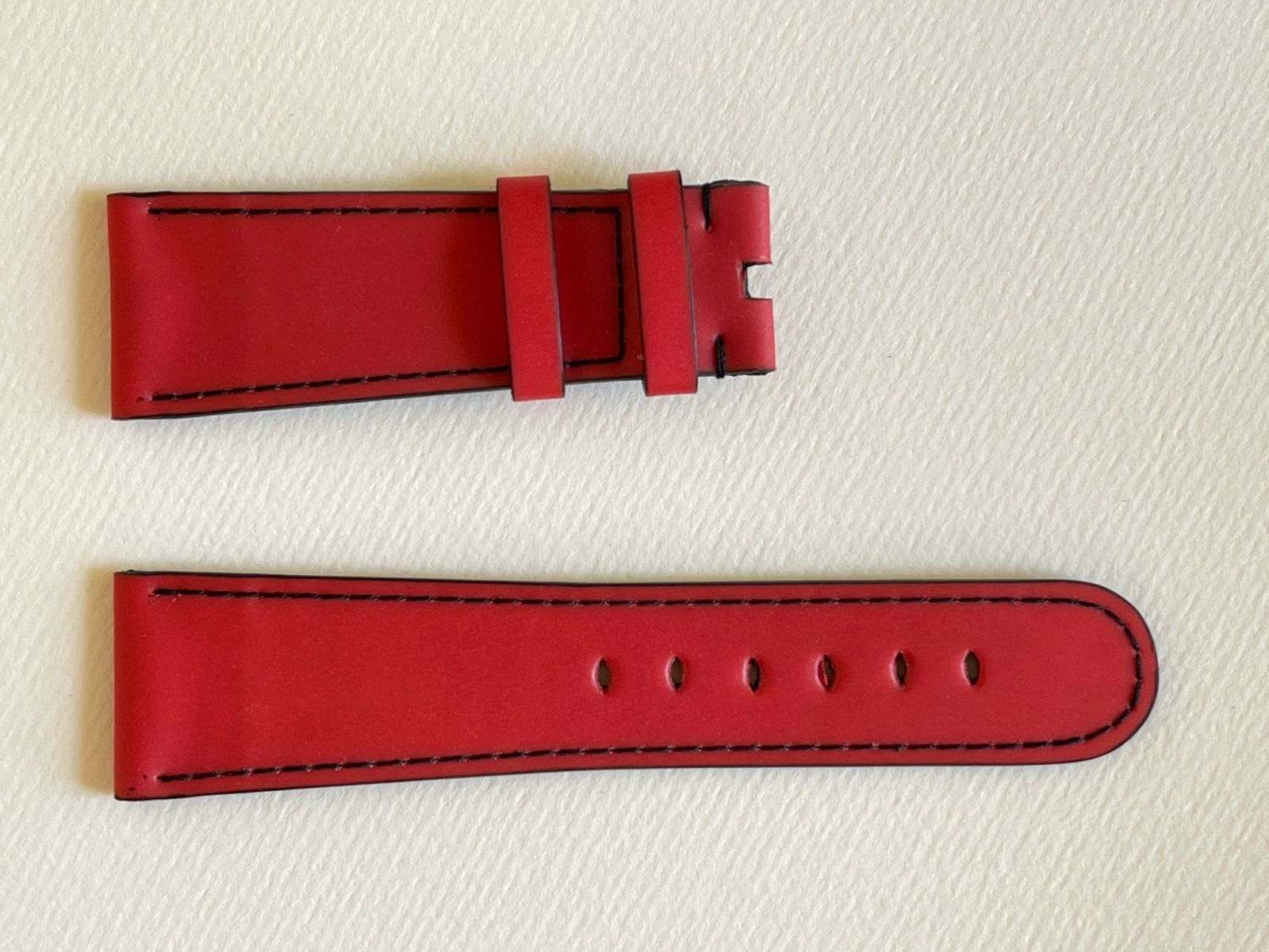 Red Recycled Rubber Strap 16mm, 18mm, 19mm, 20mm, 21mm, 22mm, 24mm General style