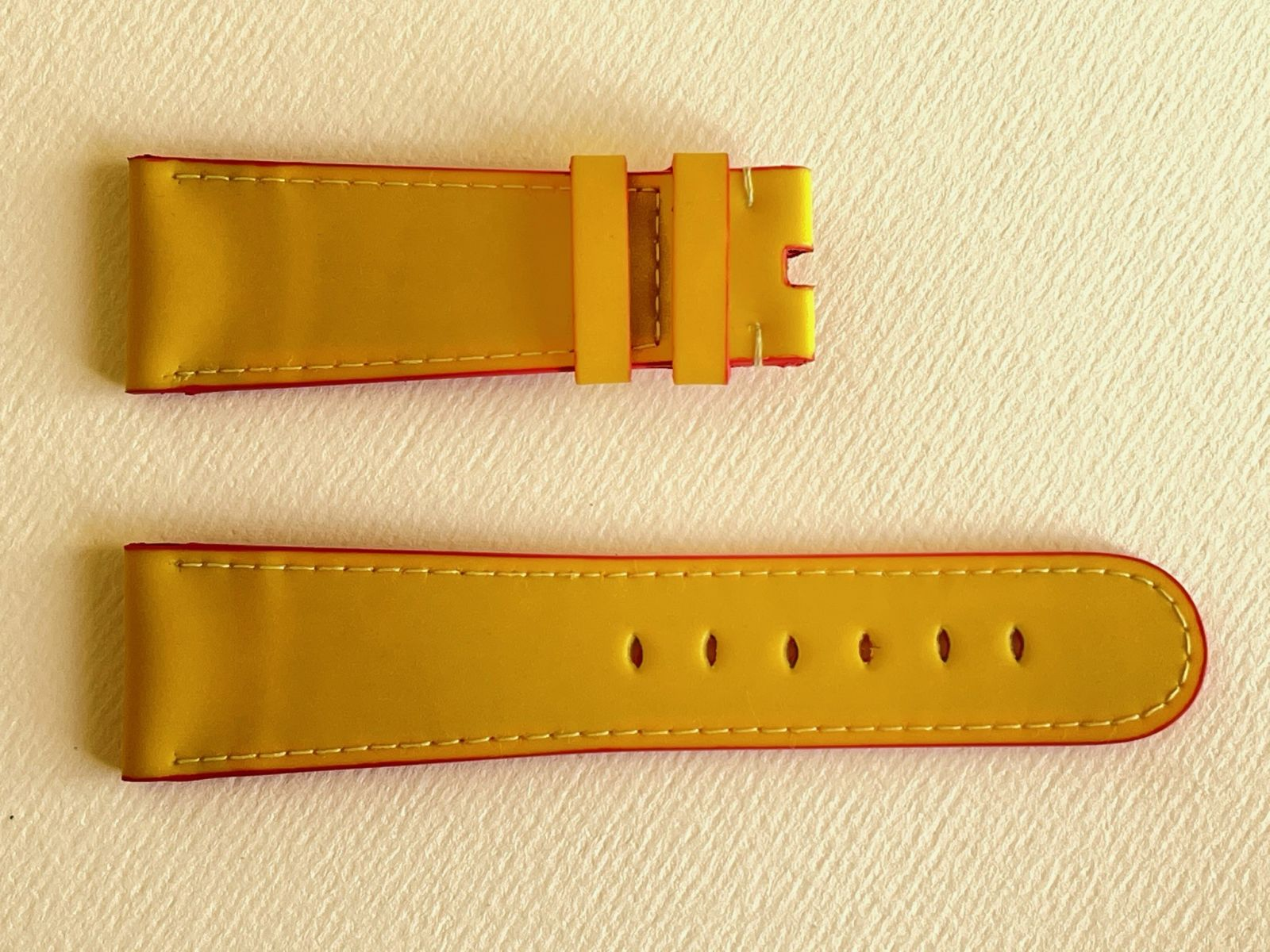 Yellow Recycled Rubber Strap 16mm, 18mm, 19mm, 20mm, 21mm, 22mm, 24mm General style