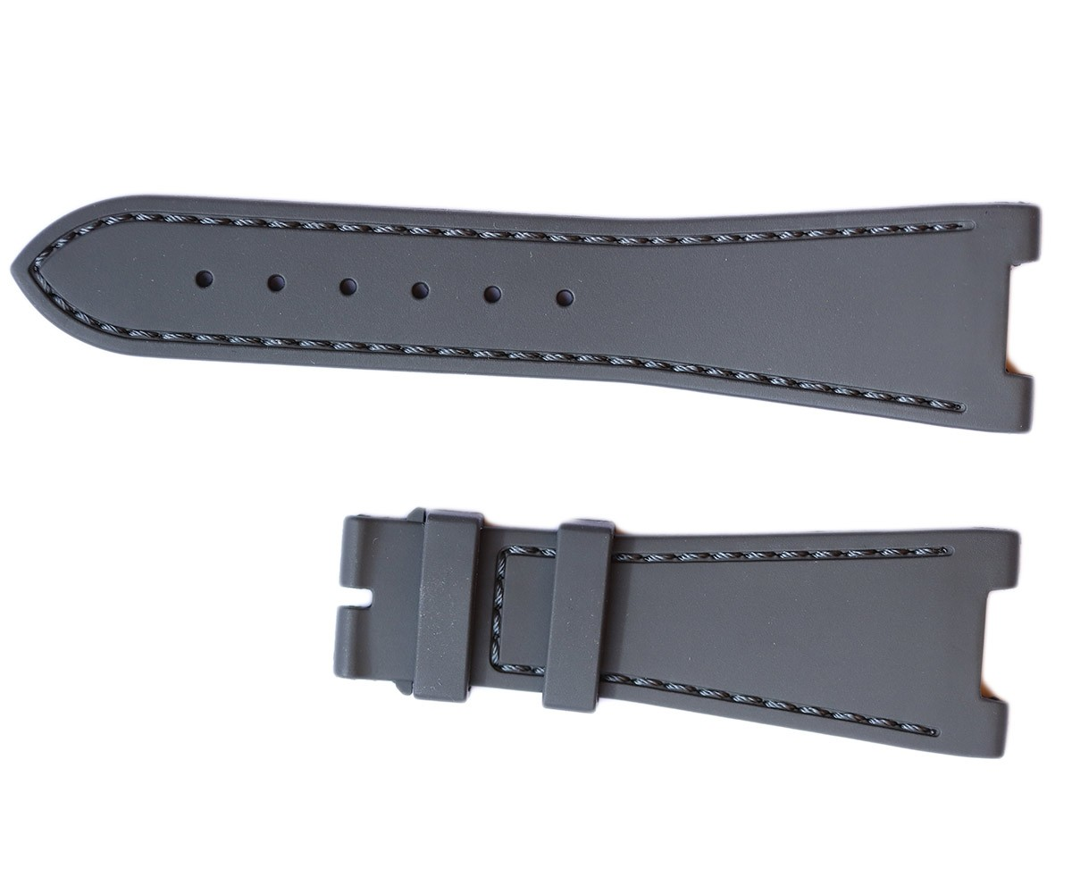 GREY rubber strap for NAUTILUS / PATEK PHILIPPE / Grey stitching