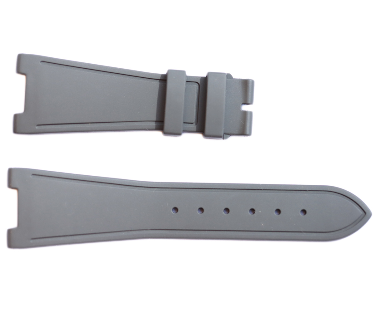 GREY rubber strap for NAUTILUS / PATEK PHILIPPE / No stitching