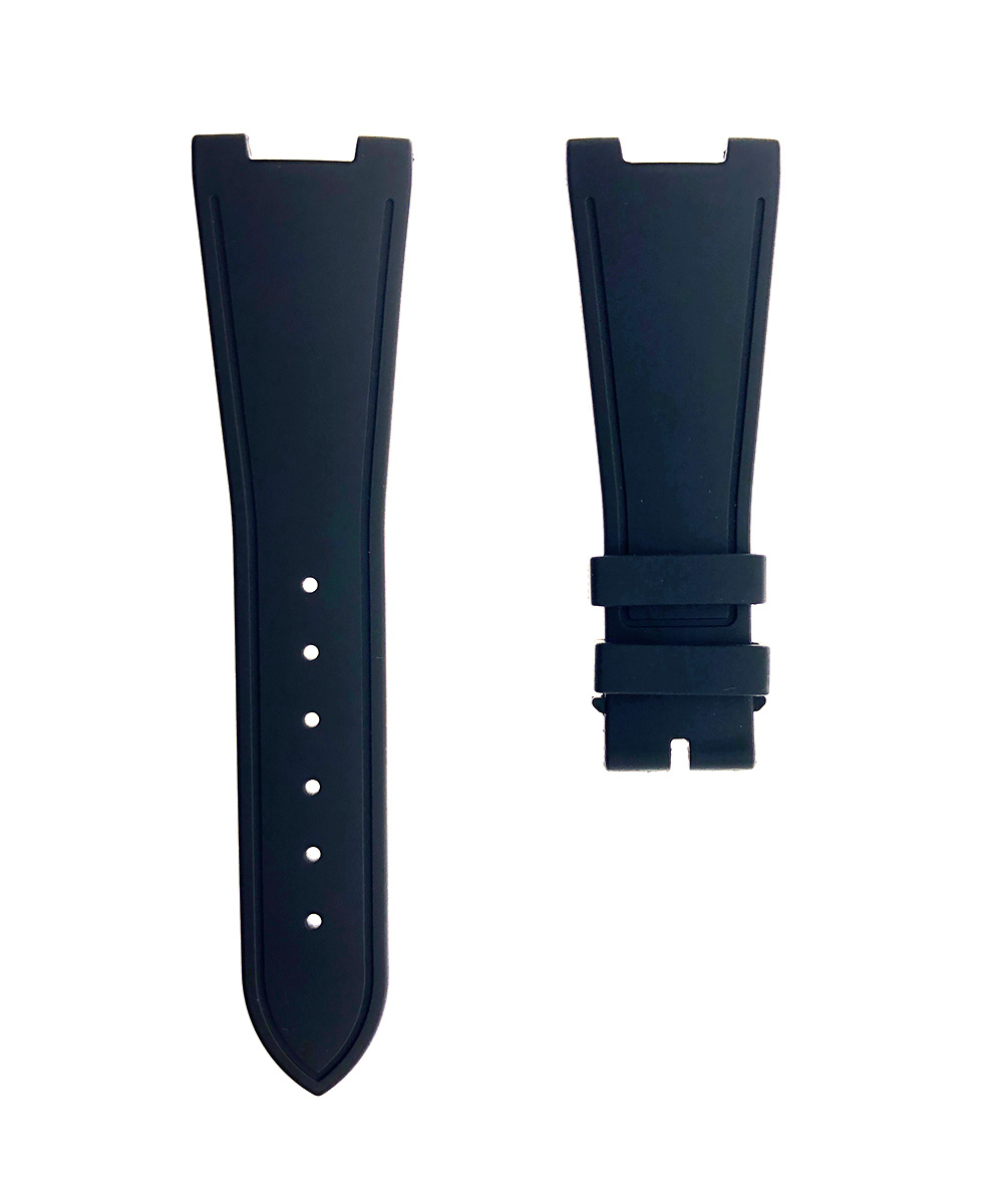 BLACK rubber strap for NAUTILUS / PATEK PHILIPPE / No Stitching