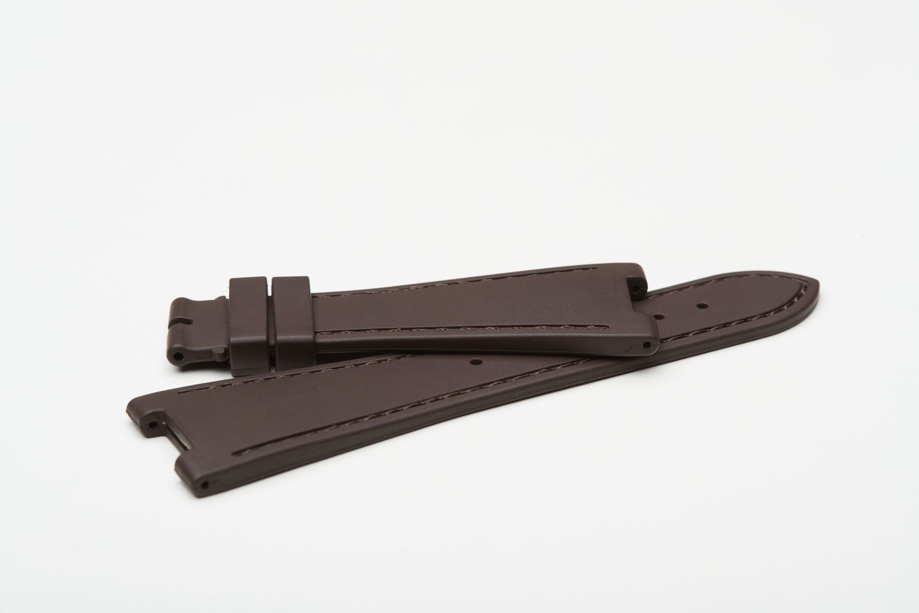 Chocolate Brown / On-tone Stitching / Natural Rubber Strap for Patek Philippe Nautilus