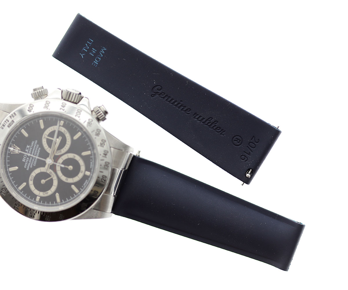 Deep Sea Blue / No stitching / Natural Rubber Band 20mm for Rolex Daytona / Quick Release