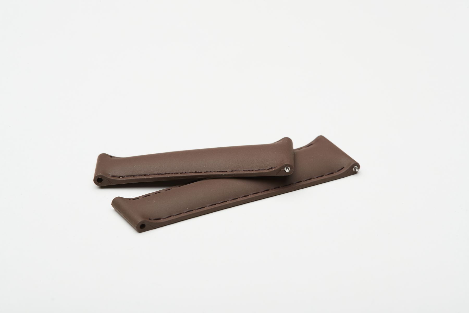 Chocolate Brown / On-tone stitching / Natural Rubber Band 20mm for Rolex Daytona / Quick Release