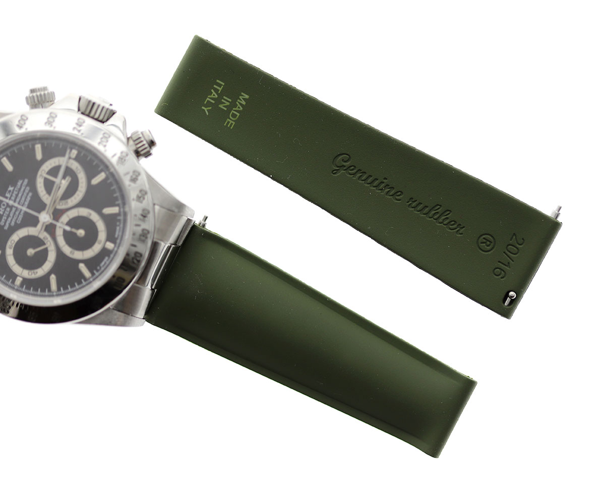 Green Army Natural Rubber Band 20mm / Rolex Daytona / Quick Release