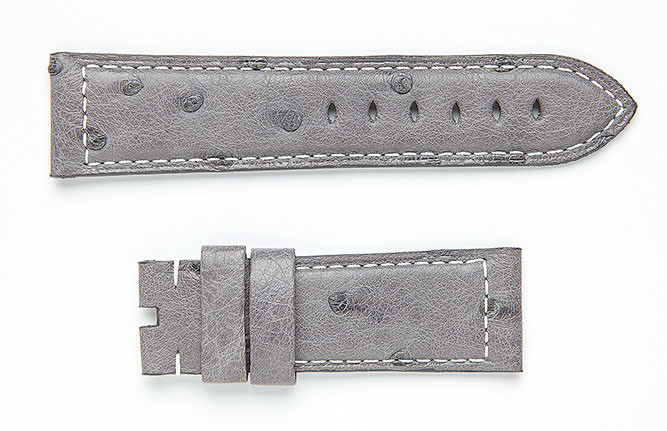 Ostrich leather, Visconti Milano watch straps made in Italy