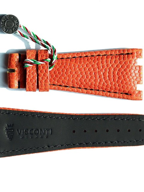 Basketball leather watch strap for Audemars Piguet style