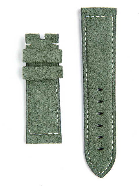 Visconti Milano Panerai style custom ready to wear original alcantara watch strap