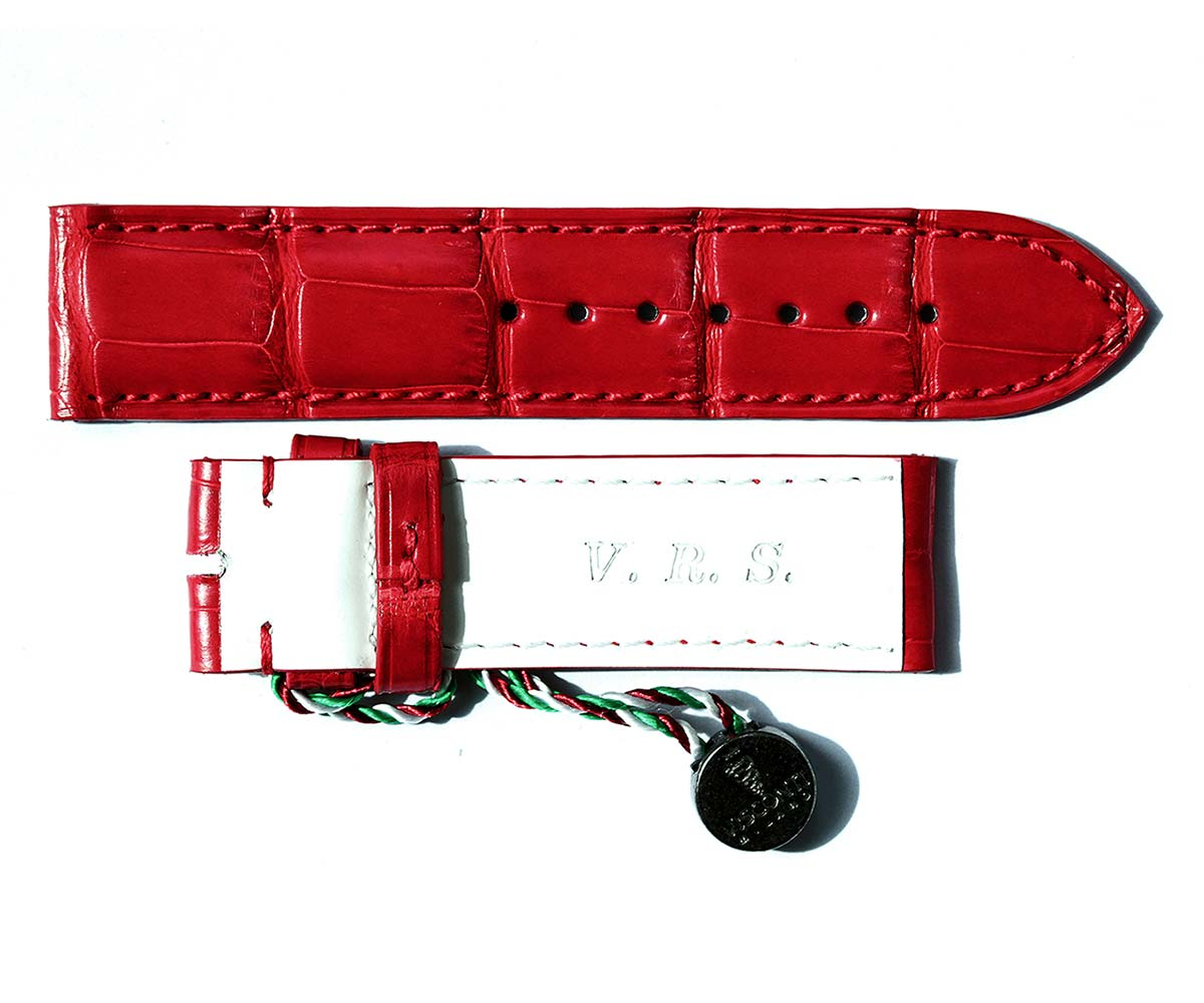 Visconti Milano Custom made straps with personalization by initials