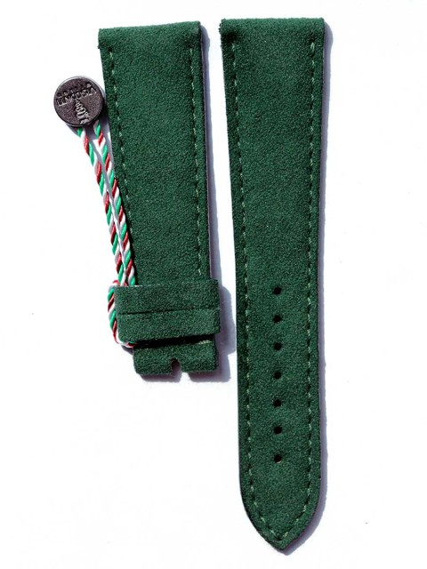 Patek Philippe General style watch strap in Alcantara Visconti Milano made in Italy