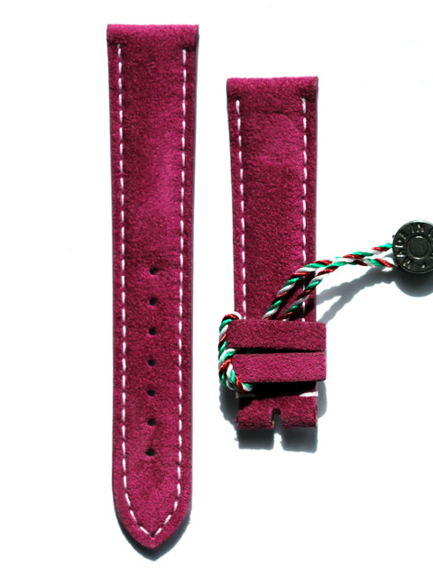 Rolex Daytona watch strap in Alcantara Visconti Milano made in Italy