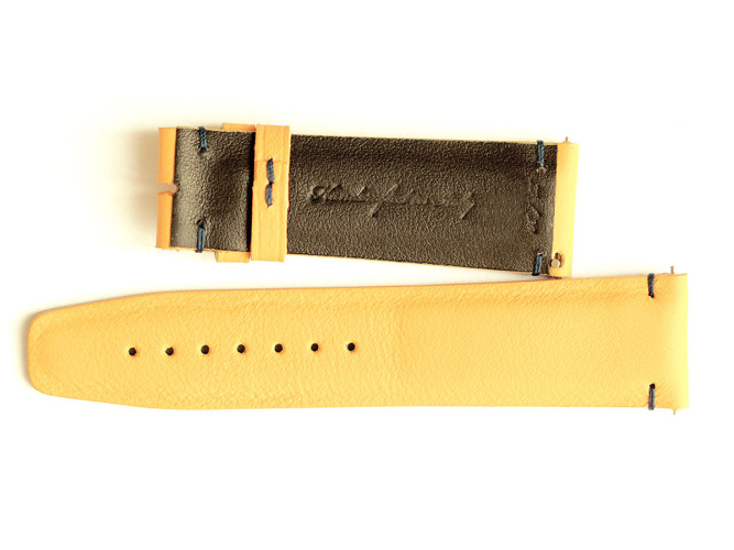 Connolly leather custom made watch strap made in Italy by Visconti Milano