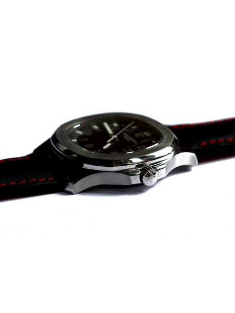Visconti Milano Rubberized leather strap for Patek Philippe style