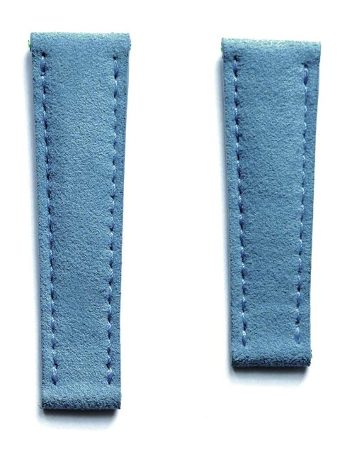 Vegan watch strap blue jeans alcantara made italy replacement rolex daytona