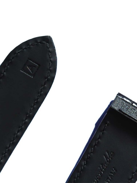 Cartier Santos 100 style Matte Alligator leather watch strap with special inserts by Visconti Milano handcrafted in Italy