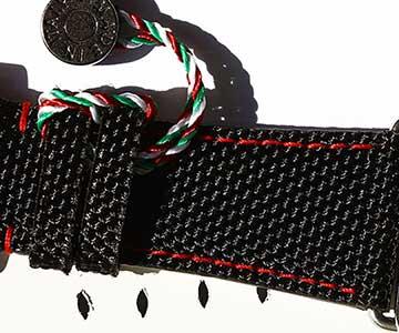 Cordura material straps