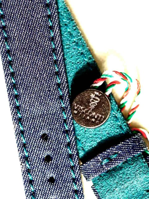 Watch strap denim jeans visconti milano patek philippe general style